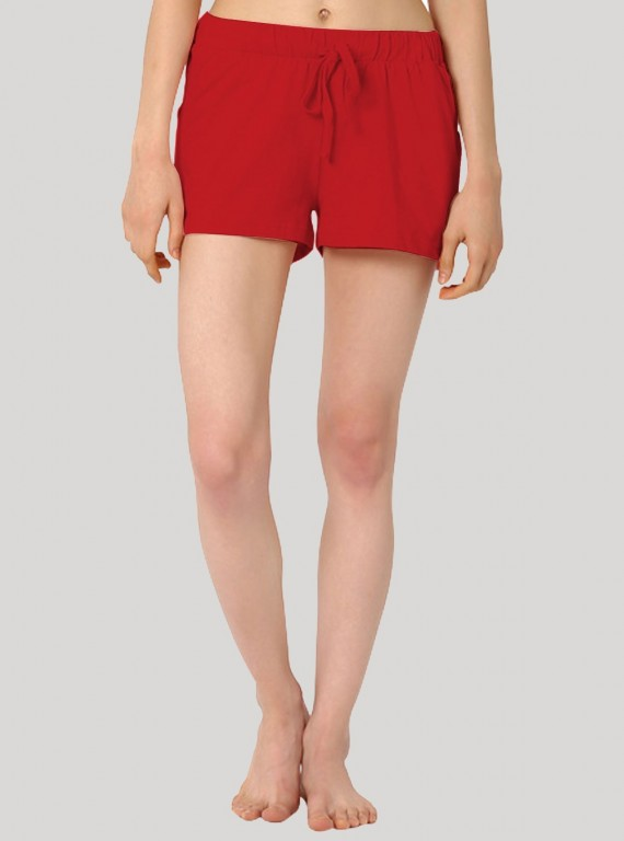 Red Womens Shorts Boer and Fitch - 2
