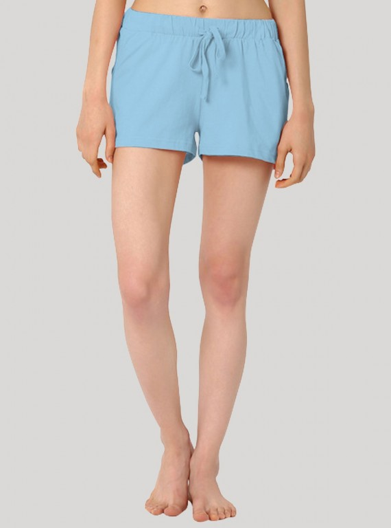 Sky Blue Womens Shorts Boer and Fitch - 1