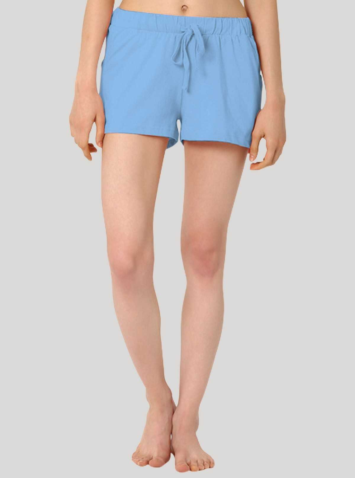 Light Blue Womens Shorts Boer and Fitch - 1
