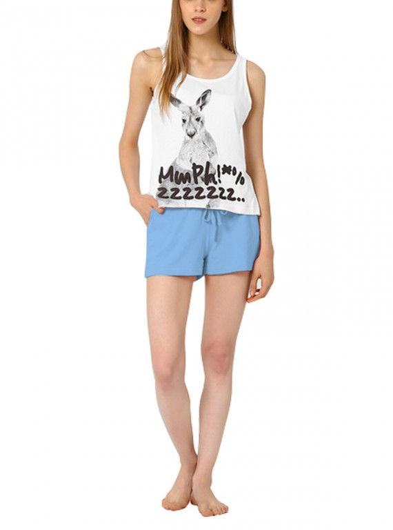 Light Blue Womens Shorts Boer and Fitch - 5