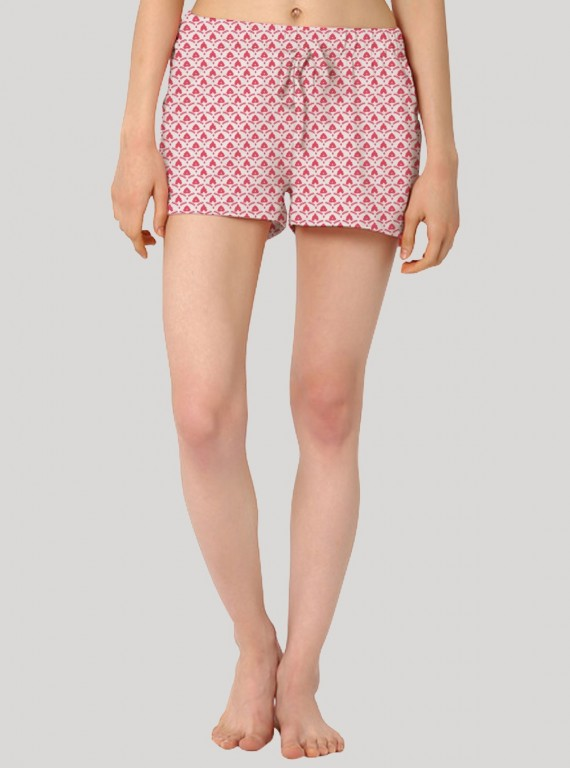 Pink Floral Print Womens Shorts Boer and Fitch - 2