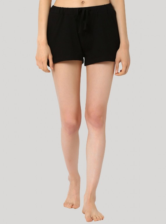Black Womens Shorts Boer and Fitch - 1