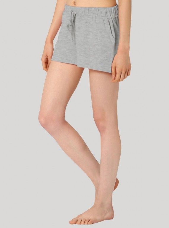 Grey Melange Womens Shorts Boer and Fitch - 2
