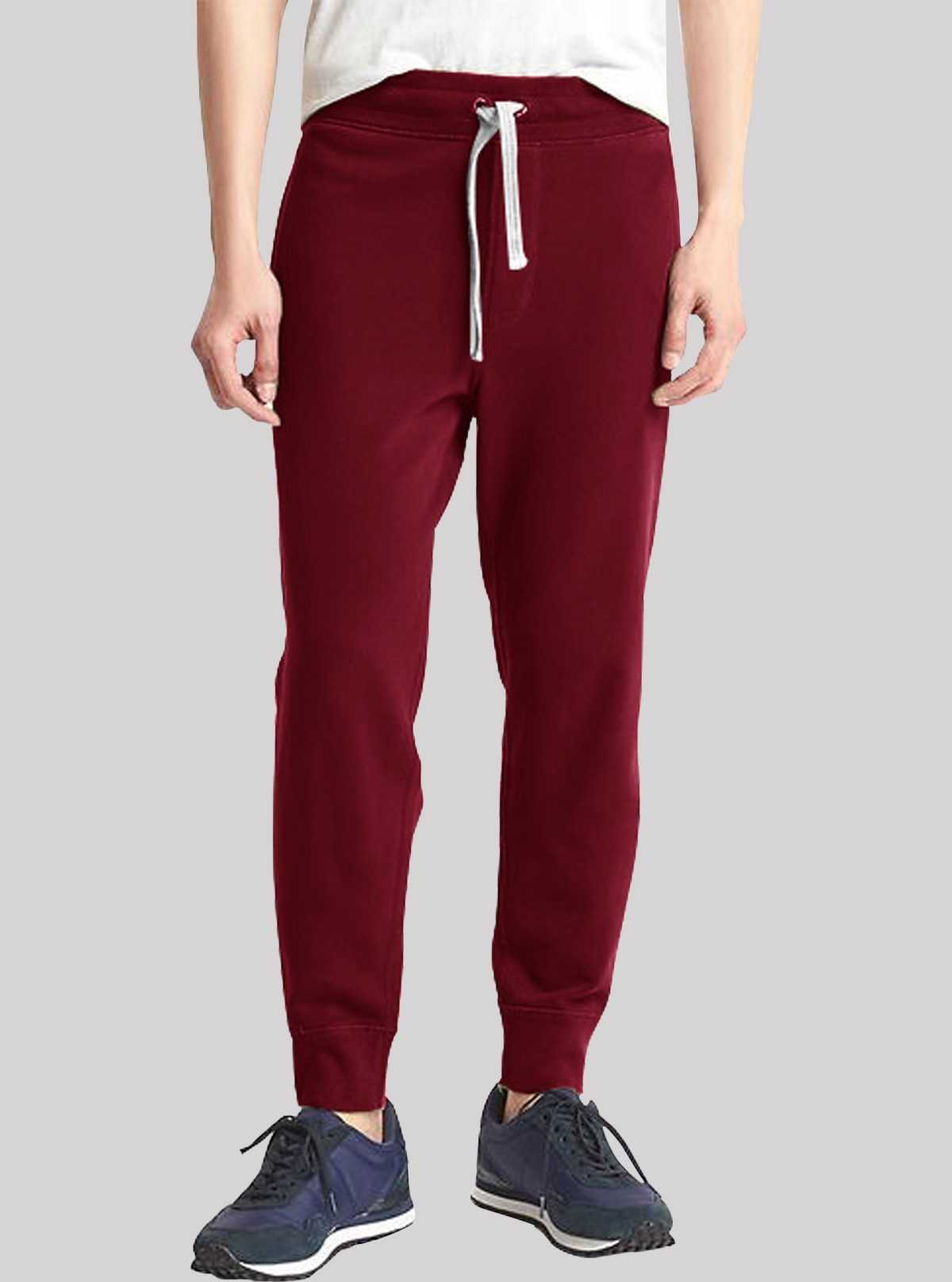 Burgundy Cuffed Jogger Boer and Fitch - 1