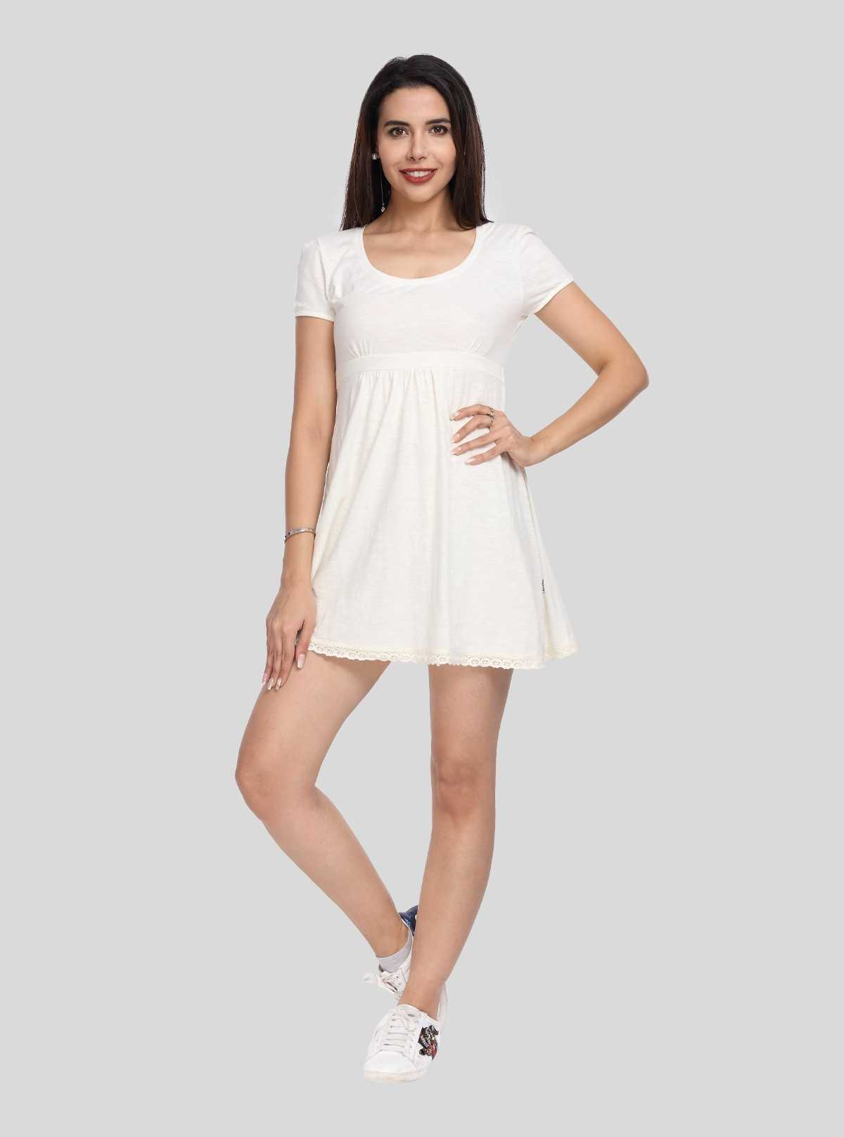 Ecru Edge Lace Scattered Dress Boer and Fitch - 1