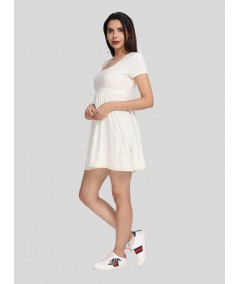 Ecru Edge Lace Scattered Dress Boer and Fitch - 2