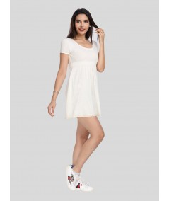 Ecru Edge Lace Scattered Dress Boer and Fitch - 3