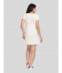 Ecru Edge Lace Scattered Dress Boer and Fitch - 4