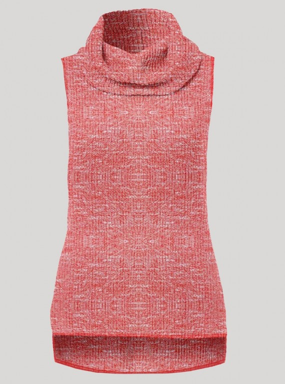 Pink Durby Knit High Neck Top Boer and Fitch - 1