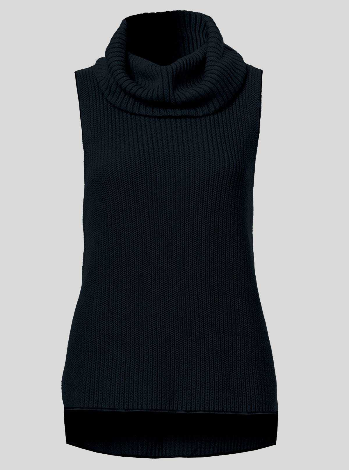 Blue Flat Knit High Neck Top Boer and Fitch - 1
