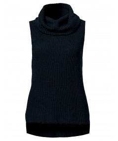 Blue Flat Knit High Neck Top Boer and Fitch - 2