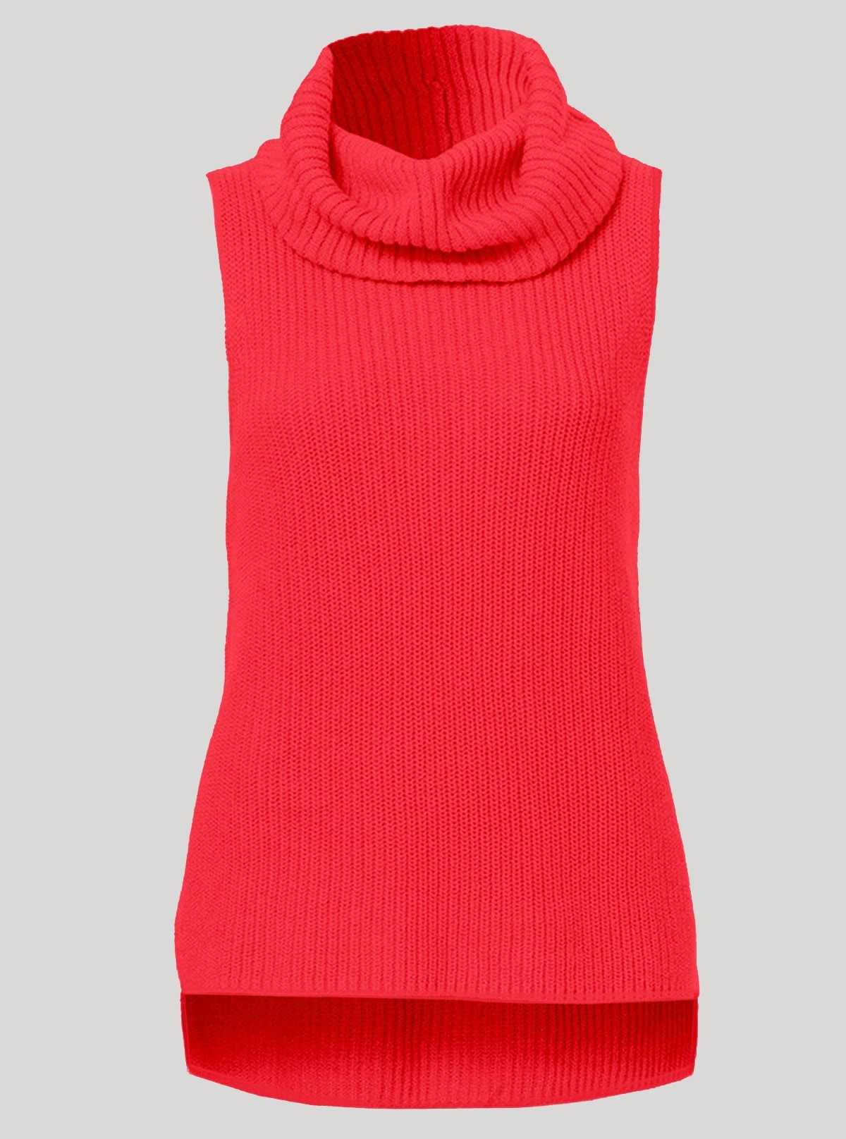 Fuschia Flat Knit High Neck Top Boer and Fitch - 1
