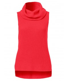Fuschia Flat Knit High Neck Top Boer and Fitch - 2
