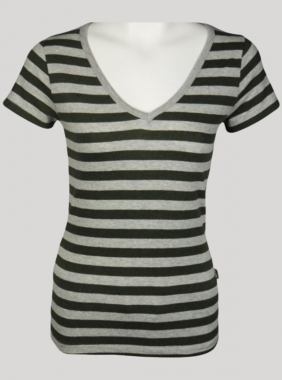 grey Stripped top Boer and Fitch - 1