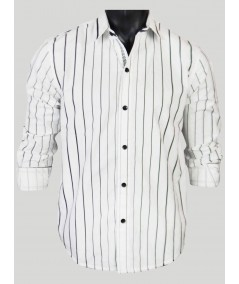 White Stripe Casual Shirt Boer and Fitch - 1
