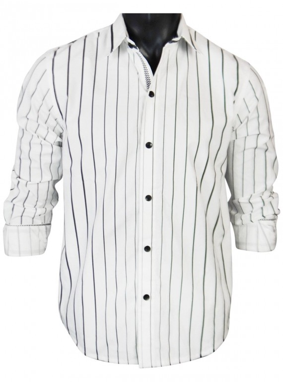 White Stripe Casual Shirt Boer and Fitch - 2