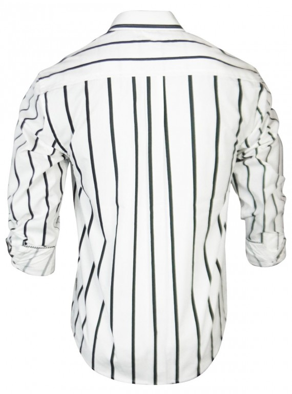 White Stripe Casual Shirt Boer and Fitch - 4