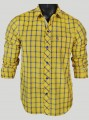 Regular Fit - Yellow Check Casual Shirt Boer and Fitch - 1