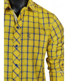 Regular Fit - Yellow Check Casual Shirt Boer and Fitch - 2