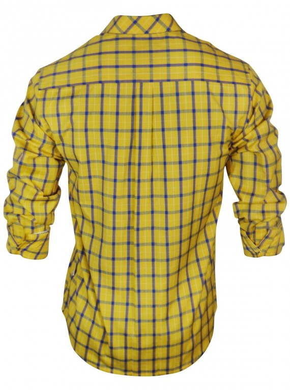 Regular Fit - Yellow Check Casual Shirt Boer and Fitch - 3