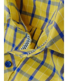 Regular Fit - Yellow Check Casual Shirt Boer and Fitch - 5
