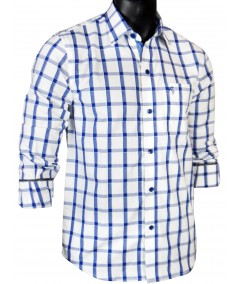 Regular Fit - Ink Blue Check Casual Shirt Boer and Fitch - 5