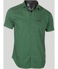 Slim Fit - Green Stripes Shirt Boer and Fitch - 2