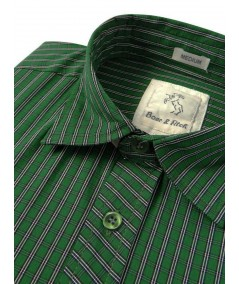 Slim Fit - Green Stripes Shirt Boer and Fitch - 4
