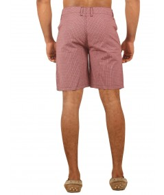 Burgundy Micro Check Shorts Boer and Fitch - 4