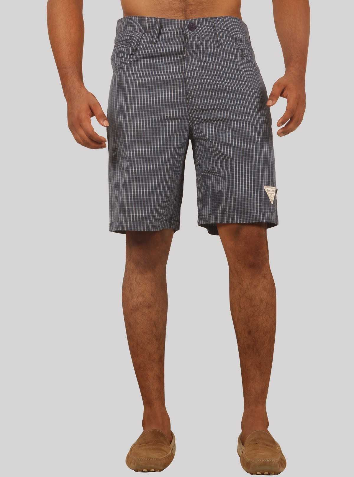 Blue Premium Woven Shorts Boer and Fitch - 1