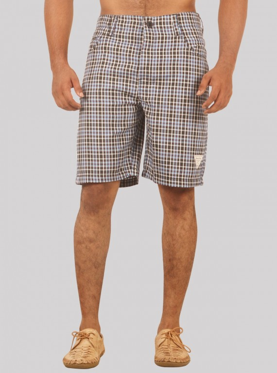 Brown Checkered Shorts Boer and Fitch - 1