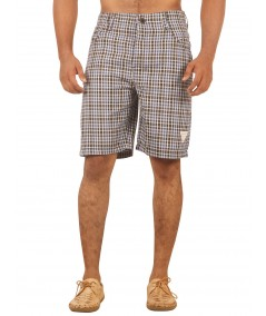 Brown Checkered Shorts Boer and Fitch - 2