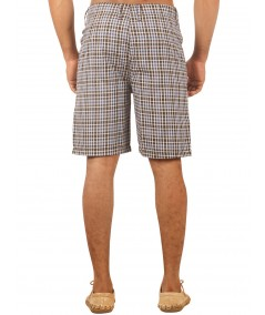 Brown Checkered Shorts Boer and Fitch - 3