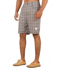 Brown Checkered Shorts Boer and Fitch - 4