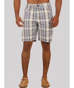 Sky Blue Checked Shorts Boer and Fitch - 1