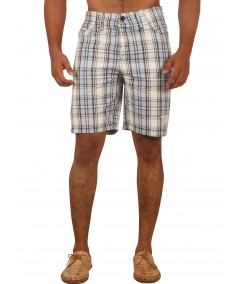 Sky Blue Checked Shorts Boer and Fitch - 2