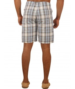 Sky Blue Checked Shorts Boer and Fitch - 3