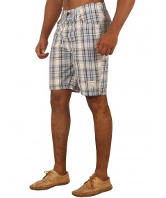 Sky Blue Checked Shorts Boer and Fitch - 4