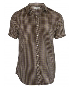 Slim Fit - Yellow Brown Checker Shirt Boer and Fitch - 2