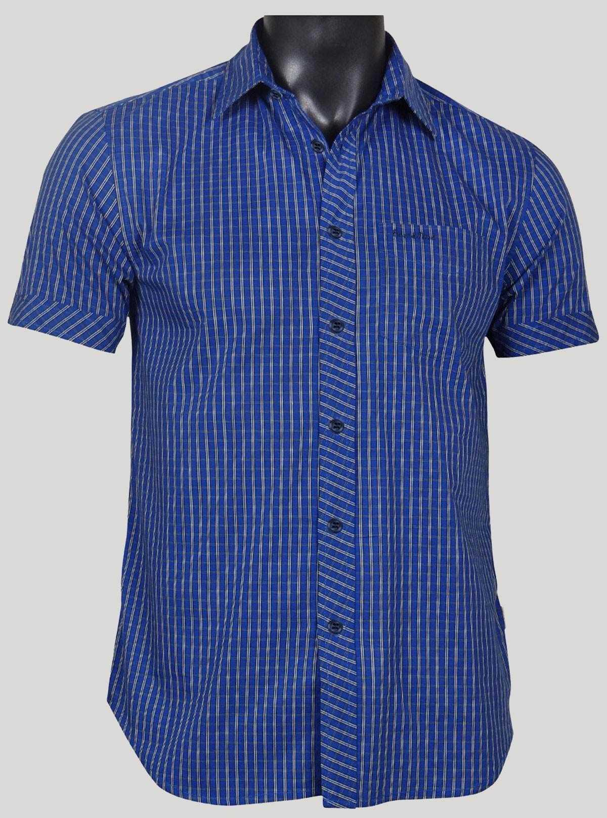 Slim Fit - Blue yellow stripped Shirt Boer and Fitch - 1