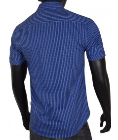 Slim Fit - Blue yellow stripped Shirt Boer and Fitch - 4