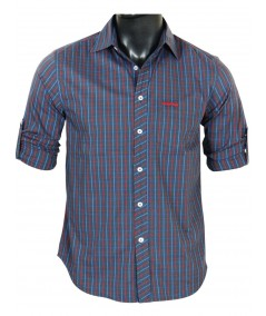 Slim Fit - Grey Multi Check Shirt Boer and Fitch - 2
