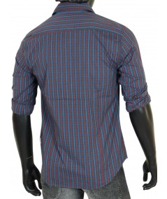 Slim Fit - Grey Multi Check Shirt Boer and Fitch - 4
