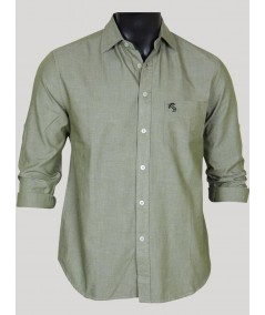 Slim Fit - Green Cotton Shirt Boer and Fitch - 1