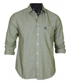 Slim Fit - Green Cotton Shirt Boer and Fitch - 2