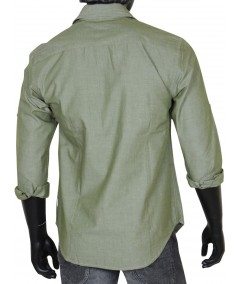 Slim Fit - Green Cotton Shirt Boer and Fitch - 3