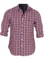Slim Fit - Checkered Red Shirt Boer and Fitch - 2