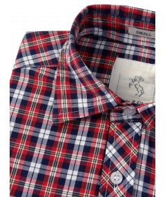 Slim Fit - Checkered Red Shirt Boer and Fitch - 3