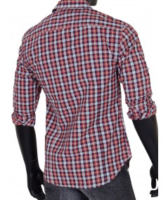 Slim Fit - Checkered Red Shirt Boer and Fitch - 4