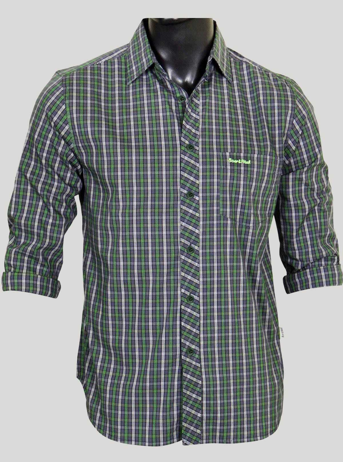 Slim Fit - Green Casual Shirt Boer and Fitch - 1